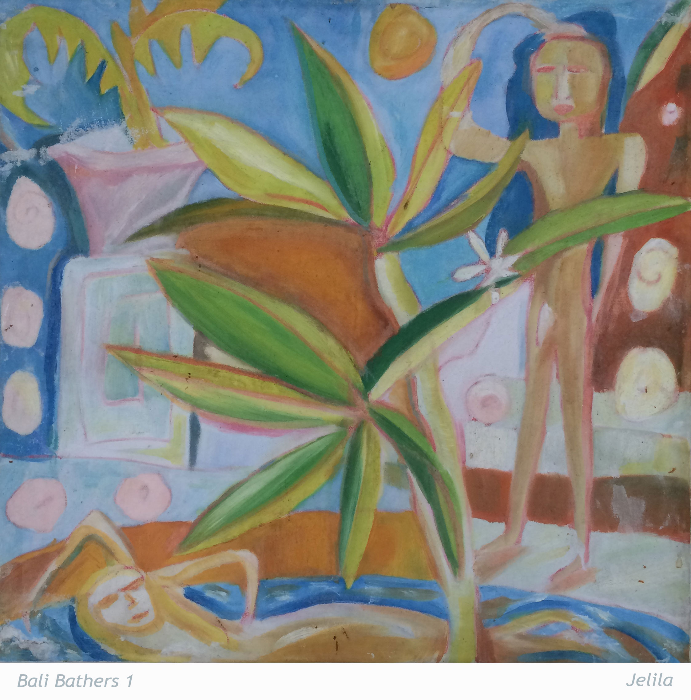 935-Bali-Bathers-1-art-by-Jelila--artist